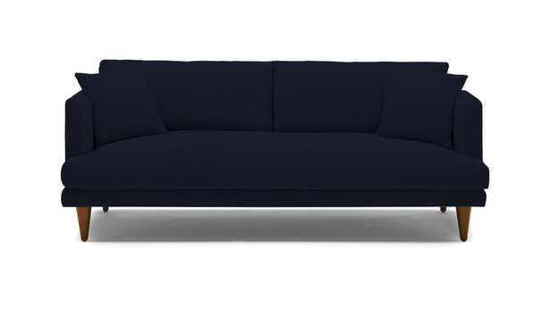 Blue Lewis Mid Century Modern Sofa - Sunbrella Premier Indigo - Mocha - Cone - Joybird