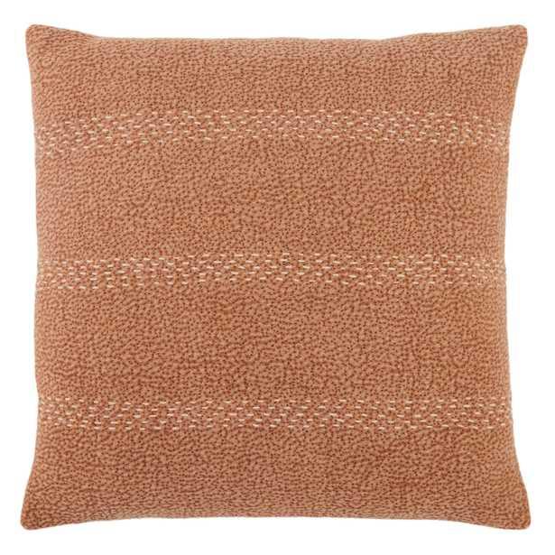 "Design (US) Terracotta 20""X20"" Pillow - Collective Weavers"