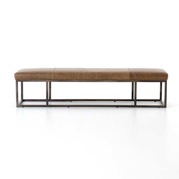 Four Hands Beaumont Leather Bench Upholstery: Warm Taupe Dakota - Perigold