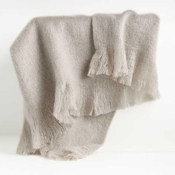 Loren Grey Soft Throw Blanket - Crate and Barrel