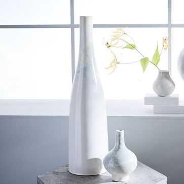 "Reactive Glaze Vase, Extra Tall, 25"", White - West Elm"