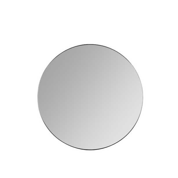 Franco Round Wall Mirror Finish: Black - Perigold