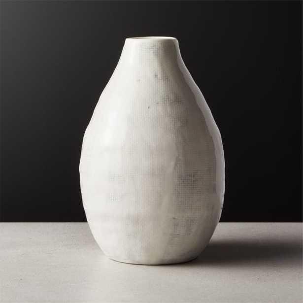 Mila White Shiny Vase - CB2