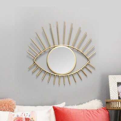 Ivor Metal Eye Glam Accent Mirror - Wayfair