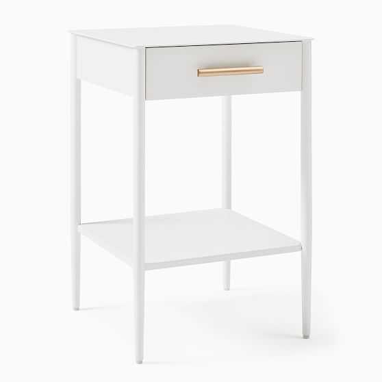 Metalwork Storage Nightstand, White - Set of 2 - West Elm
