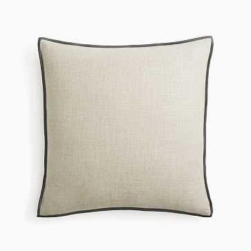 "Classic Linen Pillow Cover, 20""x20"", Natural, Set of 2 - West Elm"