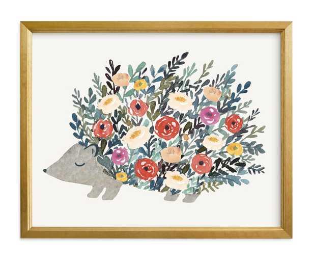 Porcupine Bloom Children's Art Print - Minted