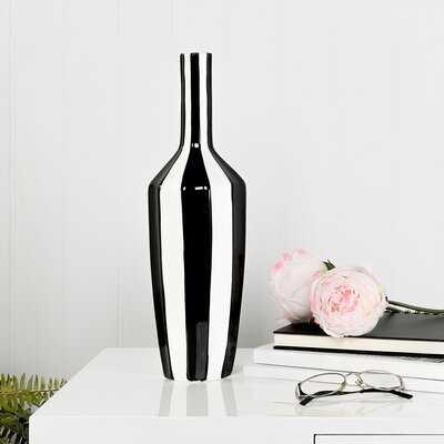 Beland Abstract Band Ceramic Gourd Table Vase - Wayfair