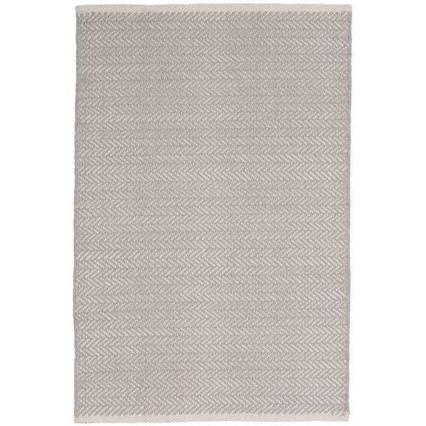 Dash and Albert Rugs Herringbone Hand-Woven Gray Area Rug Rug Size: Rectangle 9' x 12' - Perigold