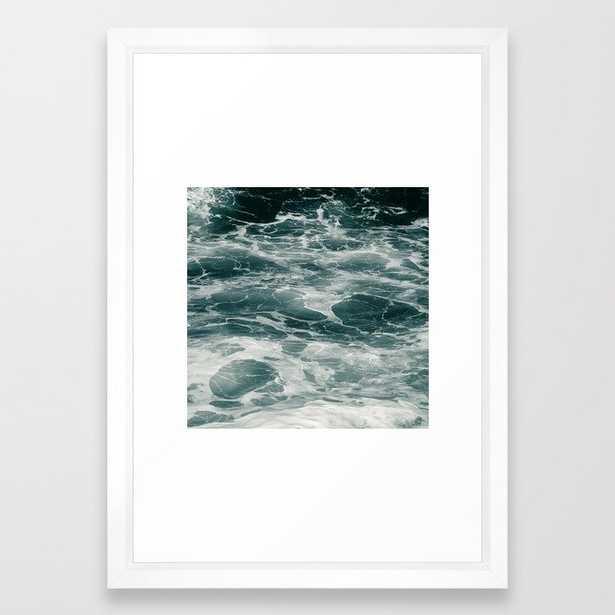 Ocean Framed Art Print by Dorit Fuhg - Vector White - SMALL-15x21 - Society6