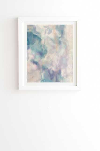 "Unicorn Marble by Chelsea Victoria - Framed Wall Art Basic White 11"" x 13"" - Wander Print Co."