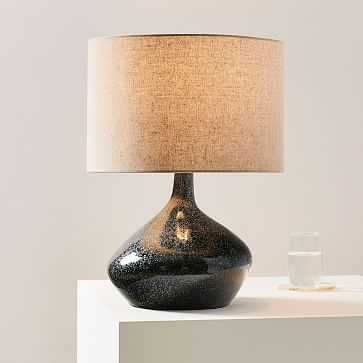 Asymmetry Ceramic Table Lamp, Small, Speckled Moss - West Elm