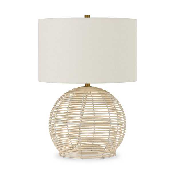 Hudson&Canal Bryn 21.5 in. Rattan Table Lamp - Home Depot