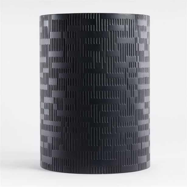 Argo Large Black Planter - Crate and Barrel