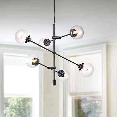 Delacruz 6 - Light Sputnik Modern Linear Chandelier - Wayfair