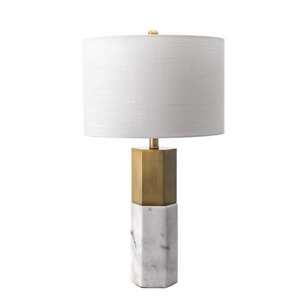 nuLOOM 27 in. Marble Lafayette Marble Indoor Table Lamp - Home Depot