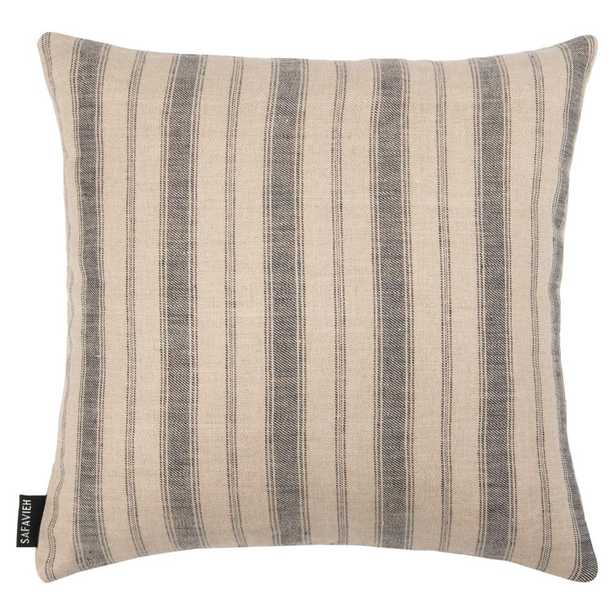 Safavieh Varina Blue/Natural 16 in. x 16 in. Throw Pillow - Home Depot