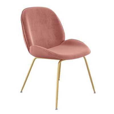 Delao Velvet Upholstered Side Chair - Wayfair