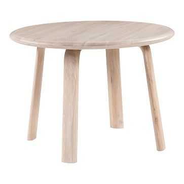 Simple Round Oak Dining Table,Solid White Oak Top, Solid White Oak Legs, - West Elm
