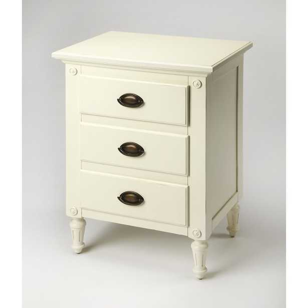 Easterbrook 3 Drawer Nightstand Color: Off-White - Perigold