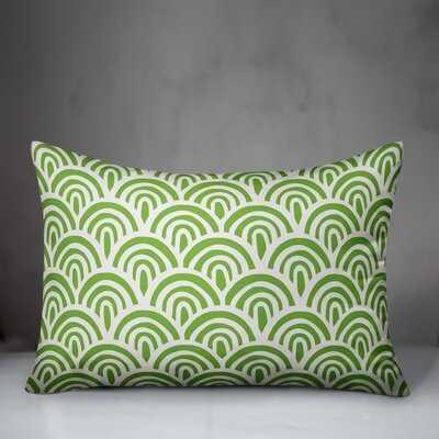 Mcclung Abstract Scallop Indoor/Outdoor Lumbar Pillow - Wayfair