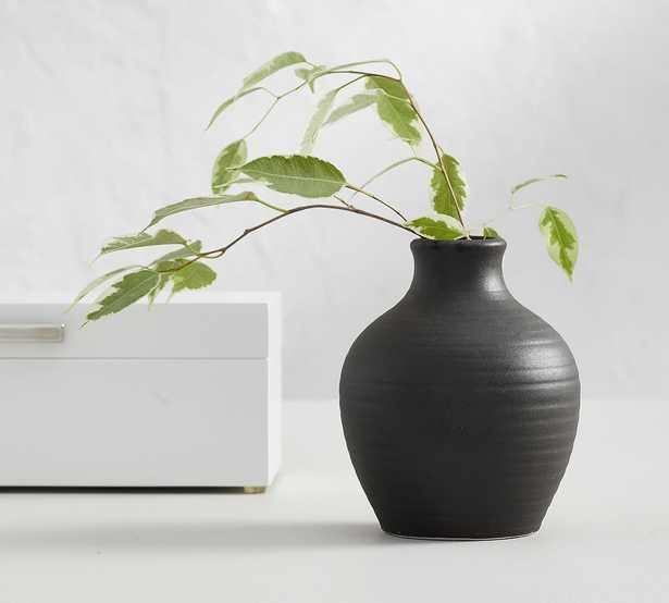 Urbana Ceramic Bud Vase, Black - Small Vase - Pottery Barn
