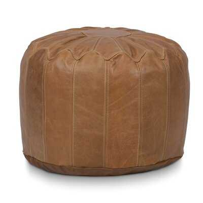 Leather Pouf - Wayfair