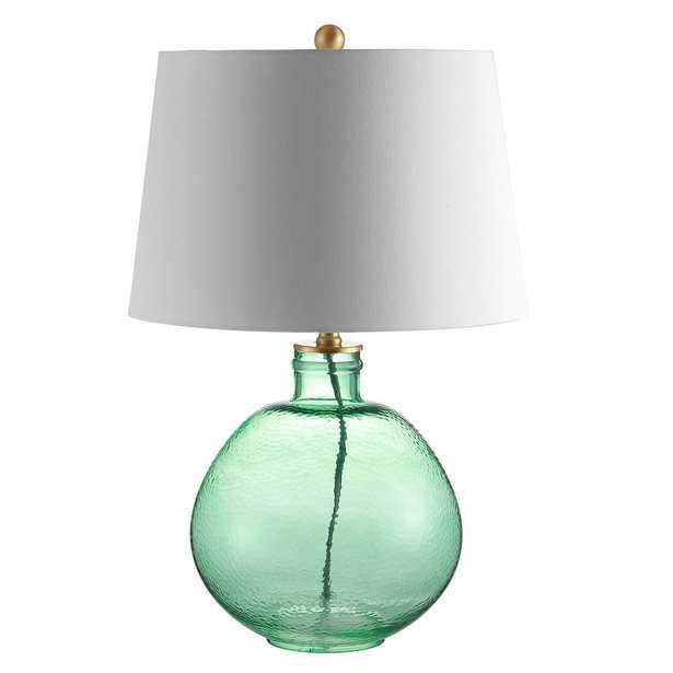 Safavieh Rasby 27 in. Green Table Lamp - Home Depot