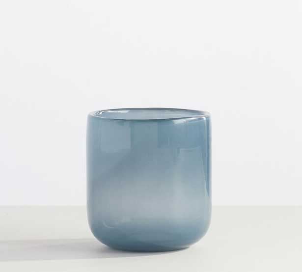 Modern Glass Votive Holders, Dusty Blue, Small - Pottery Barn