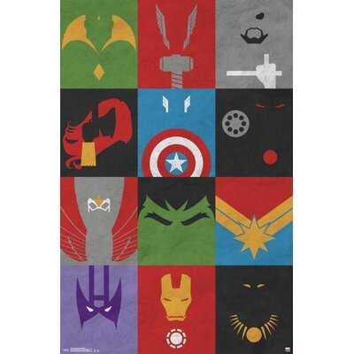 Avengers - Minimalist Grid Paper Print - Wayfair