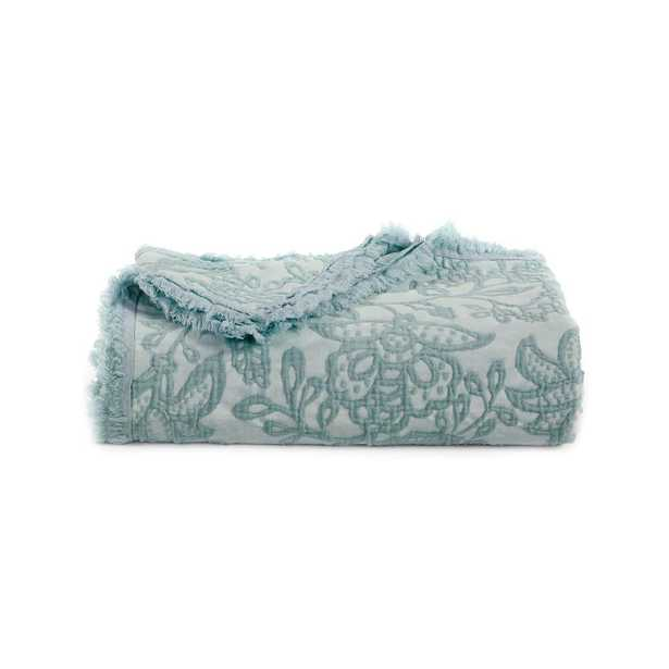 AMERICAN HERITAGE Seaside Toile Cotton Oversized Throw, Blue - Home Depot