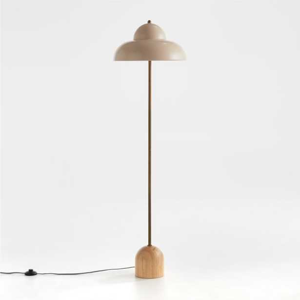Eloise Wood and Metal Floor Lamp - Crate and Barrel