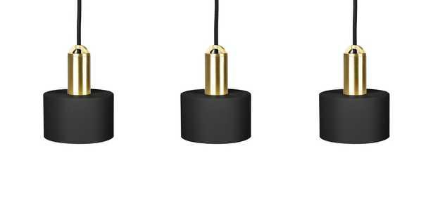 Tangent Cylinder Black Pendant Lamp Set - Article