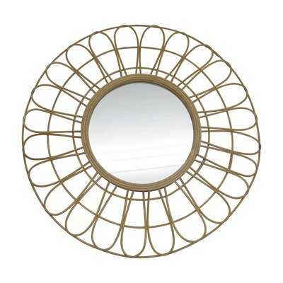 "36"" Rattan Mirror, Natural Wb - Wayfair"