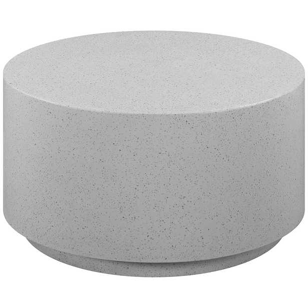 """Terrazzo 27 1/2""""W Light Speckled Concrete Round Coffee Table - Style # 80P55 - Lamps Plus"""
