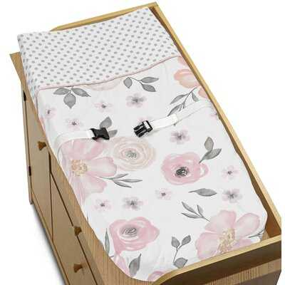 Watercolor Floral Changing Pad Cover - Birch Lane