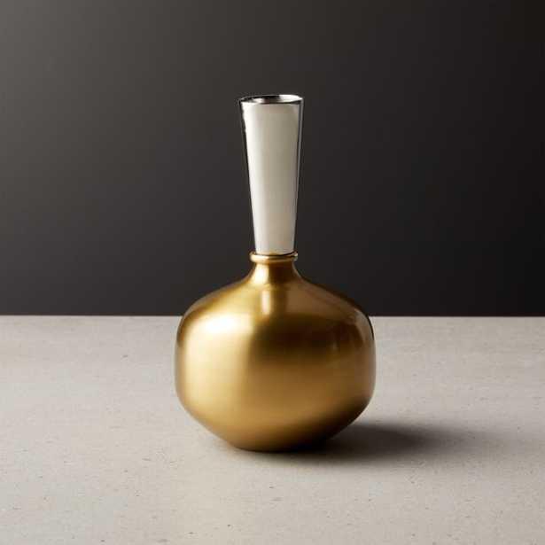 Duo Mini Two-Tone Vase - CB2