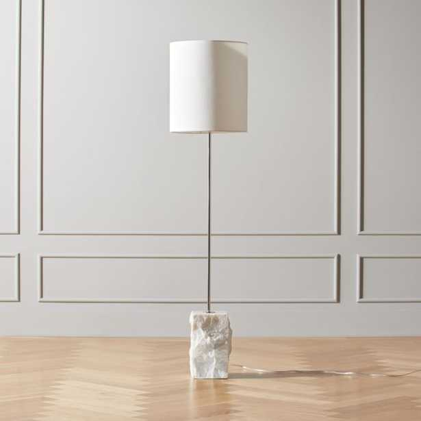 Raw Marble Floor Lamp - CB2