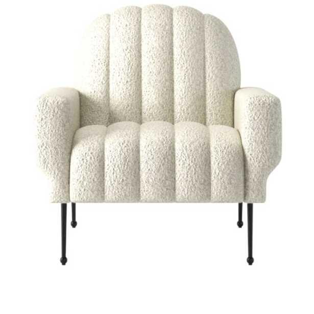 Ardis Bloce Grey Chair - CB2