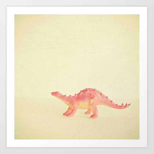 Pink Dinosaur Art Print by Cassia Beck - MEDIUM - Society6