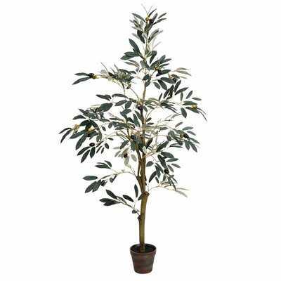 Artificial Olive Tree Tree in Pot - Wayfair