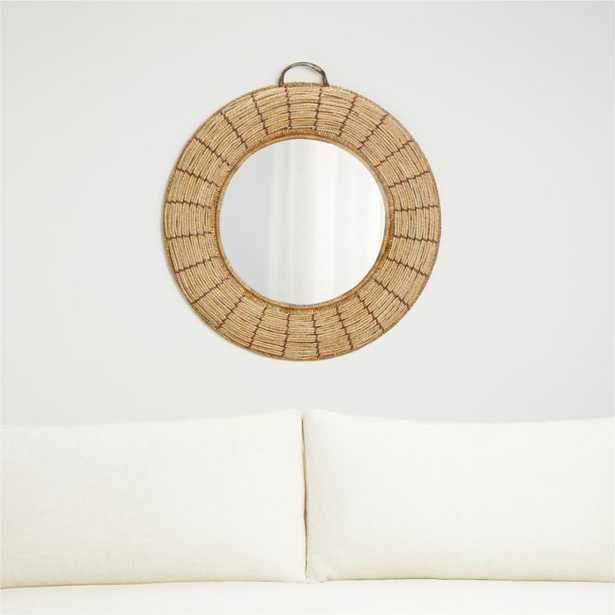 Emory Round Woven Mirror - Crate and Barrel