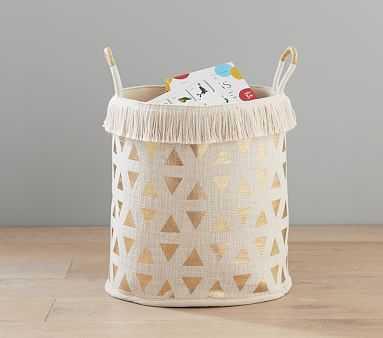 Boho Foil Print Nursery Storage, Toy Dump - Pottery Barn Kids