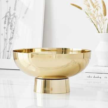 Pure Foundations Metal Centerpiece Bowl, Antique Brass - West Elm