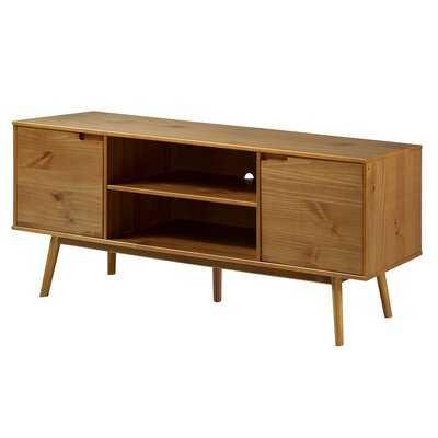 """Adair 70"""" Modern 2 Door Solid Wood TV Stand - Wayfair"""