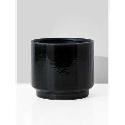 """Sickels Black 6"""" Indoor / Outdoor Ceramic Table Vase - Wayfair"""