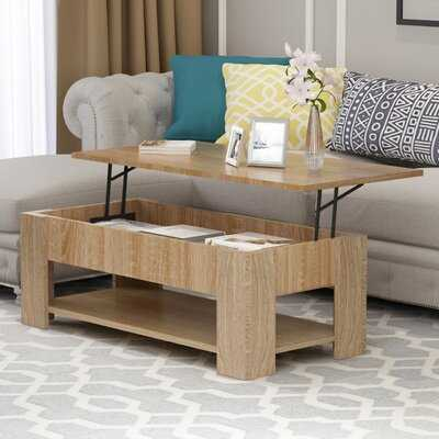Lift-Top Coffee Table With Hidden Compartment Storage Shelf Living Room Furniture - Wayfair