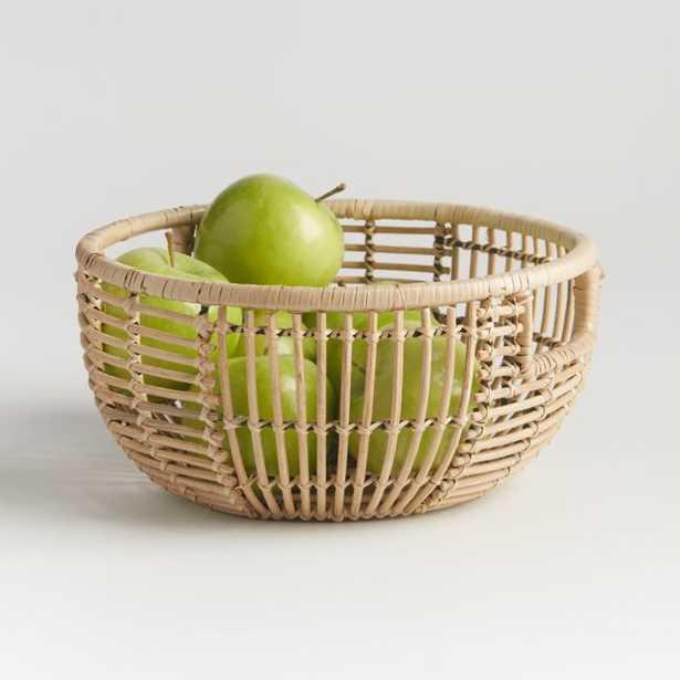 Savrin Rattan Fruit Basket - Crate and Barrel