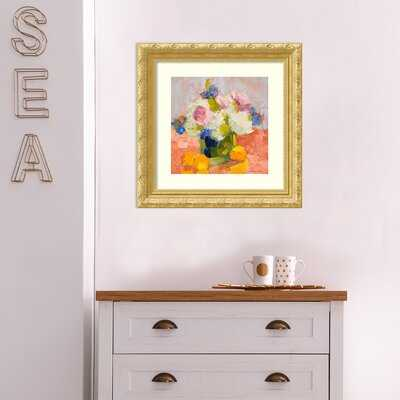 Peonies, Irises and Hydrangea by Carol Maguire - Picture Frame Graphic Art Print on Paper - Birch Lane