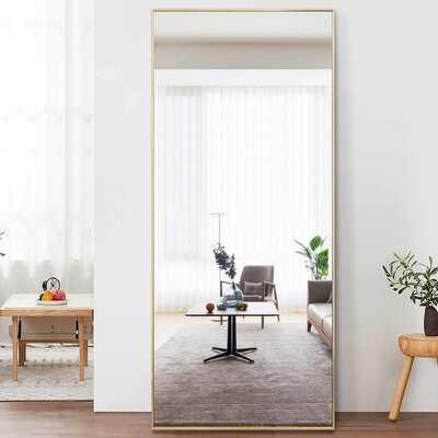 Ronan Simple Oversized Thin Aluminum Alloy Modern Full Length Mirror - Wayfair